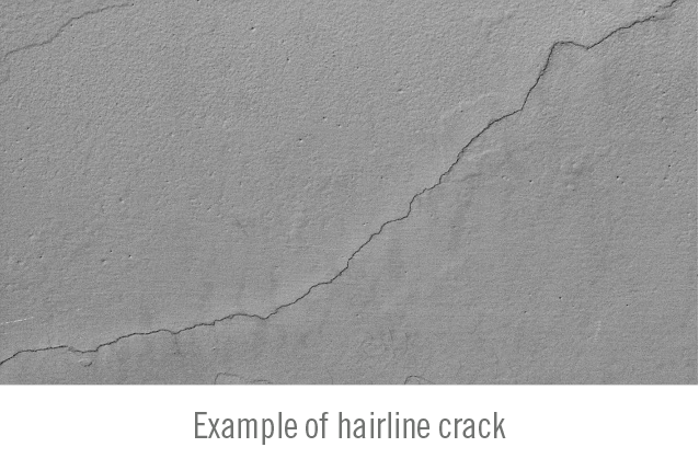 Don't let hairline cracks spall out of control