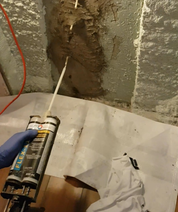 Concrete crack injection process