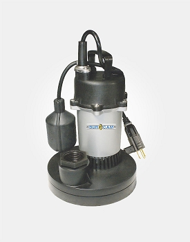 Thermoplastic/Zinc Sump Pump 1/3HP 115V - Tethered Switch