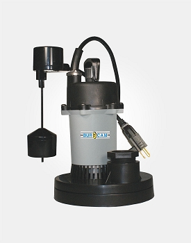 Thermoplastic/Zinc Sump Pump 1/2HP 115V - Vertical Switch