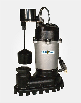 Cast Iron/Zinc Sump Pump 1/2HP 115V - Vertical Switch