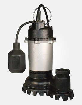 Thermoplastic/Zinc Sump Pump 1/2HP 115V - Tethered Switch
