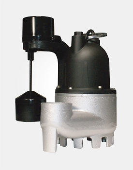 Cast Iron/Zinc Submersible Sump Pump 1/3HP 115V - Vertical Switch