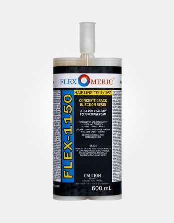 FLEX-1150 Wall Crack Repair Resin - Ultra Low Viscosity Polyurethane - Crack Width: Hairline to 1/16