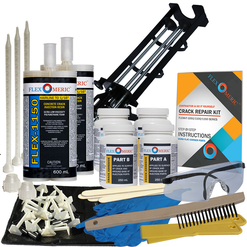 Dual-Component Floor And Wall Crack Repair Kits
