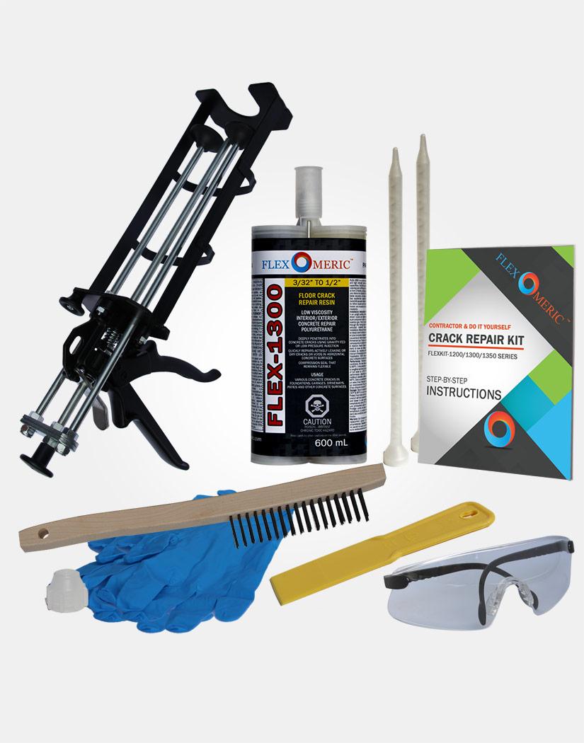 do it yourself concrete foundation crack repair kit flexomeric. Black Bedroom Furniture Sets. Home Design Ideas