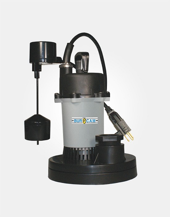 Thermoplastic/Zinc Sump Pump 1/3HP 115V - Vertical Switch