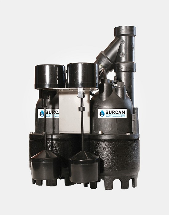 Backup Dual-Pump Duplex System 1/3HP 115V