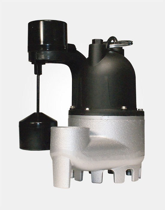 Cast Iron/Zinc Submersible Sump Pump Vertical Switch 1/3HP 115V